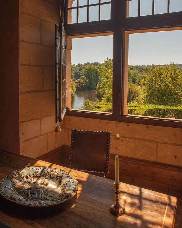 Longing for the river. The Vezere river from the Chateau de Losse, Perigord, France