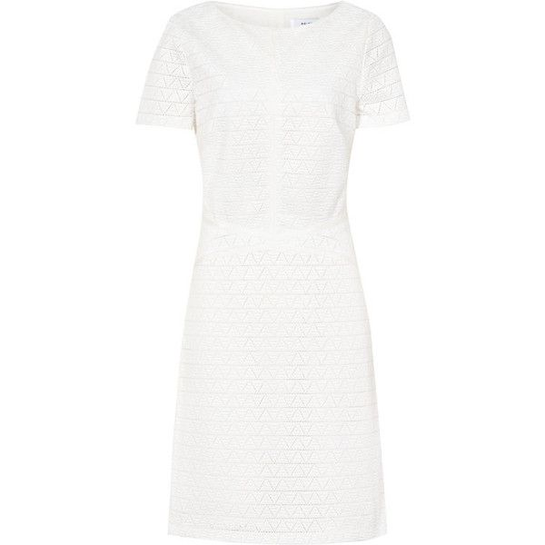 CUT-OUT DRESS ($500) ❤ liked on Polyvore featuring dresses, white dress, cut-out dresses, white cutout dresses, white cut out dress and cutout dresses