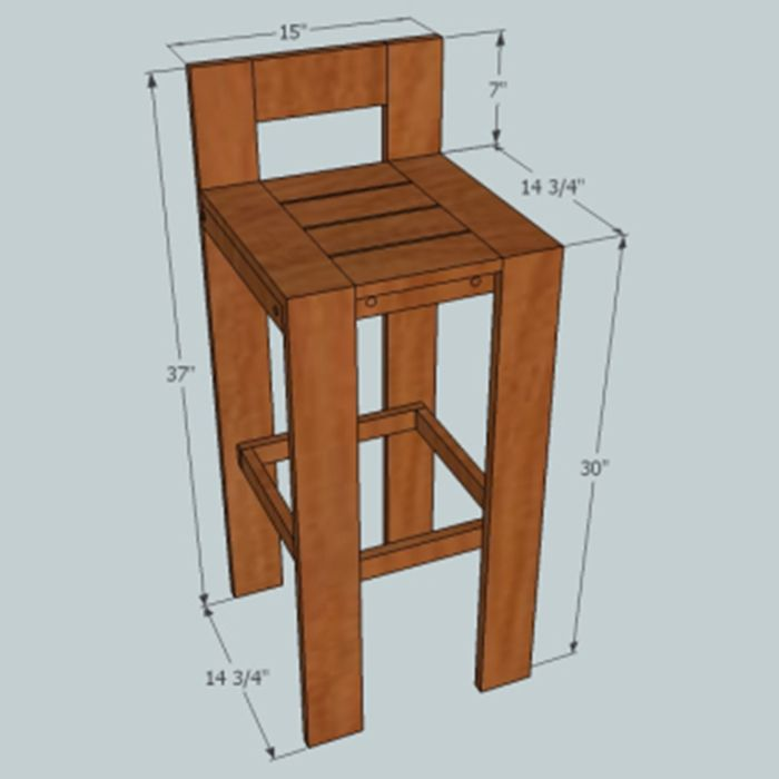 15 best diy barstool images on pinterest woodworking home ideas and banquettes. Black Bedroom Furniture Sets. Home Design Ideas