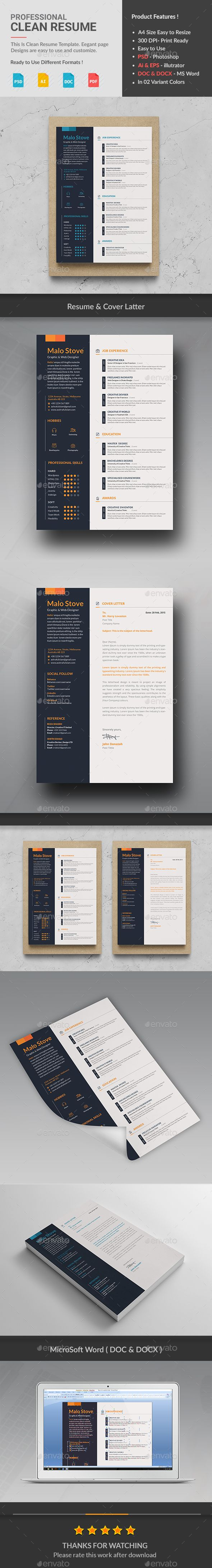 Love this simple clean resume design For