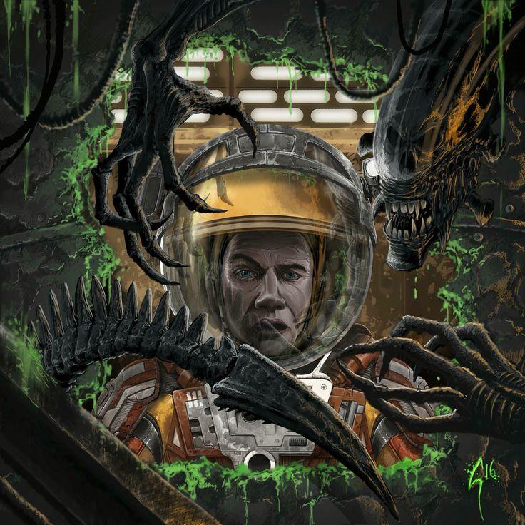 Alien vs. Martian My Latest Digital Work #art #artwork #artist #illustrate #illustration #illustrative #draw #drawings #sketching #digitalpainting #digitalart #fun #alien #martian #ridleyscott #creature #astronaut #space #scream #creepy #spacesuit #xenomorph #death #photoshop #wacom
