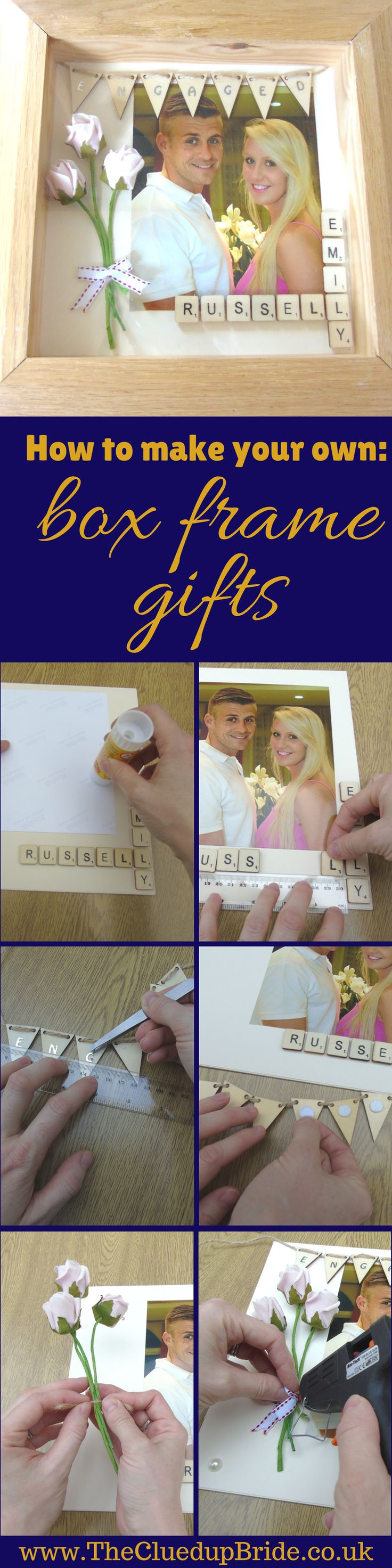 Wedding DIY Ideas: How to make your own box frame gift – Projects to Try