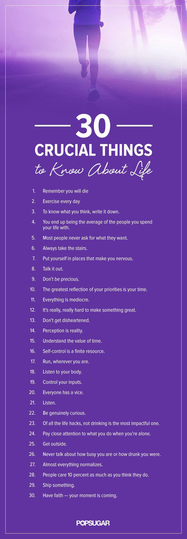 30 aspectos cruciales que tenemos que recordar acerca de la vida. #vida #activa #alma