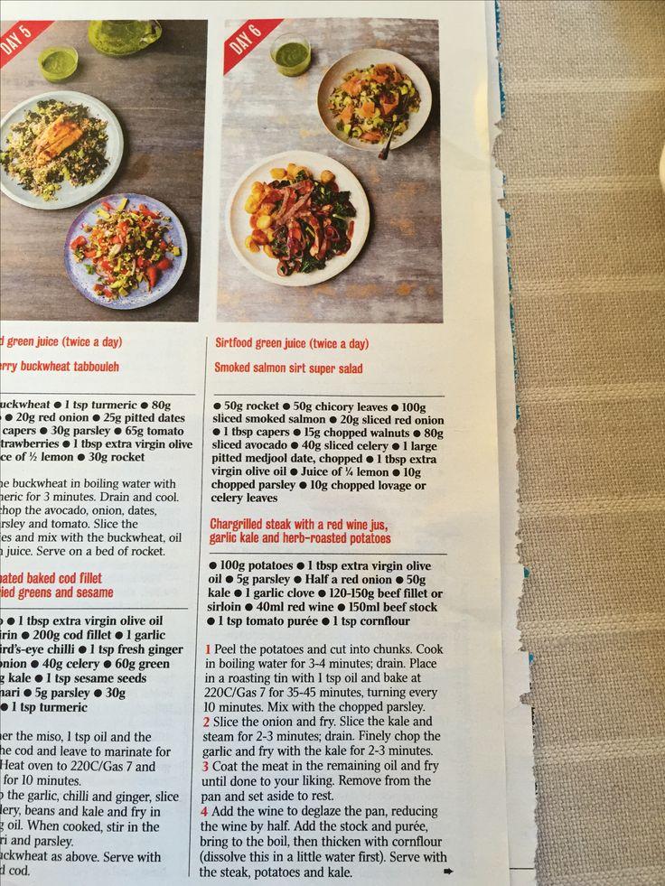 17 best sirt food diet images on pinterest diet recipes healthy day 6 sirt diet forumfinder Gallery
