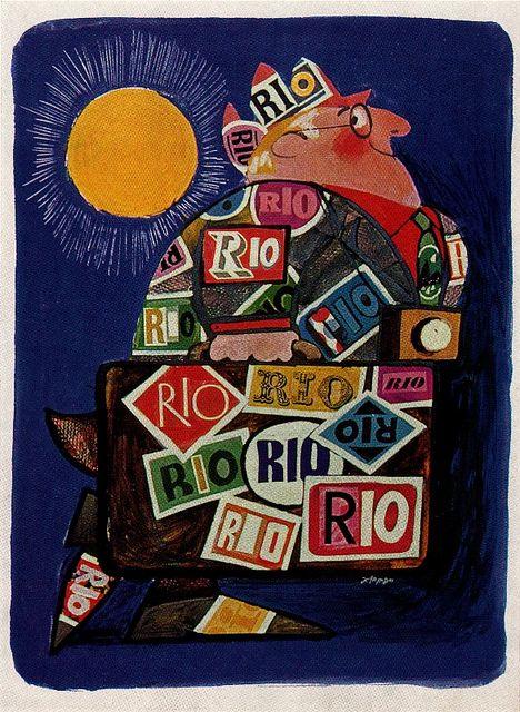 Tourist Poster for Rio de Janeiro. Artist, Ziraldo Alves Pinto. From Graphis Annual 67/68