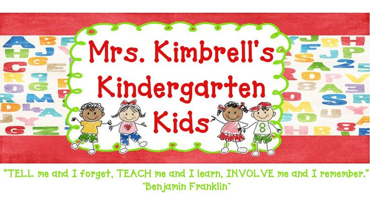 Kindergarten Blogs