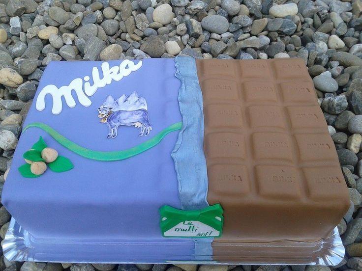 milka cake, tort milka, milka fondant