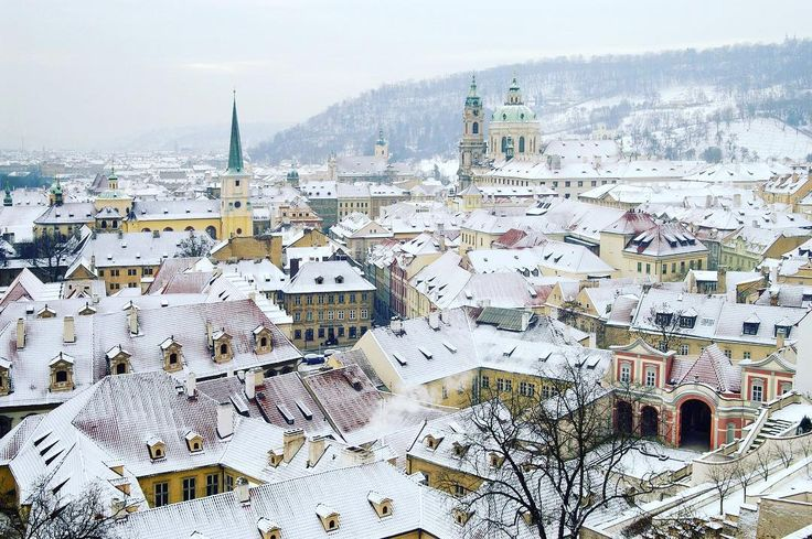 #WinterisComing - We love this #snowy scene from #Prague, #CzechRepublic ⠀  #EuropeTravelwithMIR #czechtravel #czechtourism #visitprague #praguetours #wintertravel #travel #tourism #wanderlust #worlderlust #beautifuldestinations #instapassport #travelgram #seetheworld #architecture #cityview #traveltuesday #eurotrip #everydaycentraleurope