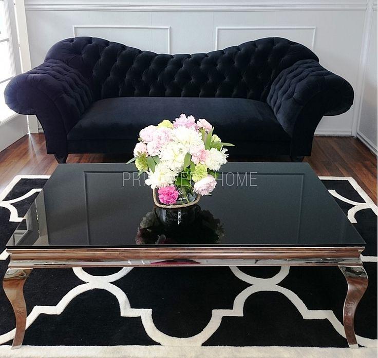 Nowoczesna sofa pikowana chesterfield w stylu glamour ROMA