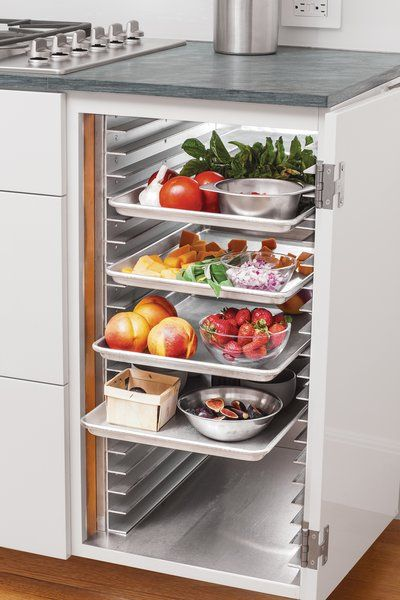 speed racks for kitchen table small space photo 5 of in a sleek renovation san francisco 2018 and refrigerator the residents incorporated into cabinets typically found restaurants offer chefs intermediate