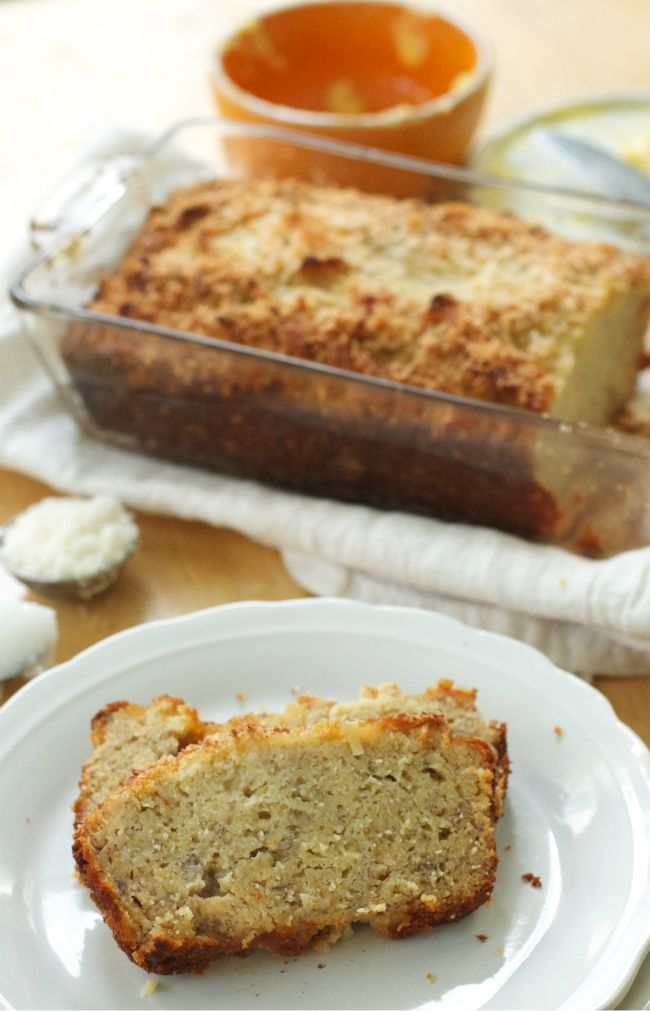 Coconut Banana Bread with Coconut Flour