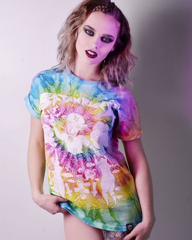 "CRMC X @russelltaysom ""Satan Rules"" Tie Dye Tee Available at www.crmc-clothing.co.uk 