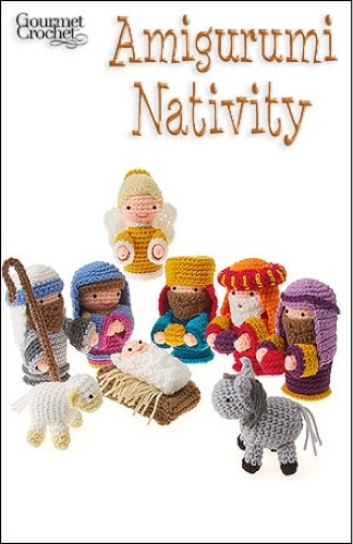 Celebrate the holidays with a sweet little manger scene in the amigurumi style. Amigurumi is a Japanese word for a crochet style that translates into knitted doll or toy. The figures are small-sized and designed to be fun accents or show pieces, instead of serving a practical use. This makes amigurumi the perfect crochet style for creating a nativity set.