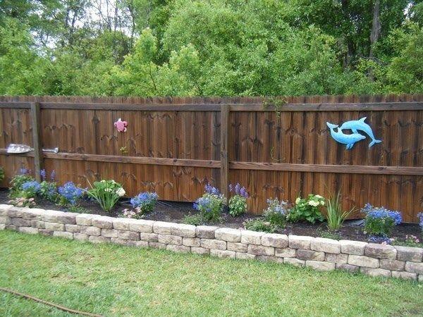 1237 best garden fences walls gates images on pinterest for Flower bed fencing