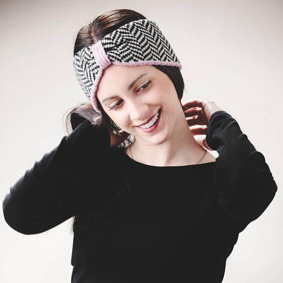 Knitted Headband Womens clothing gift Knit Headband  Merino