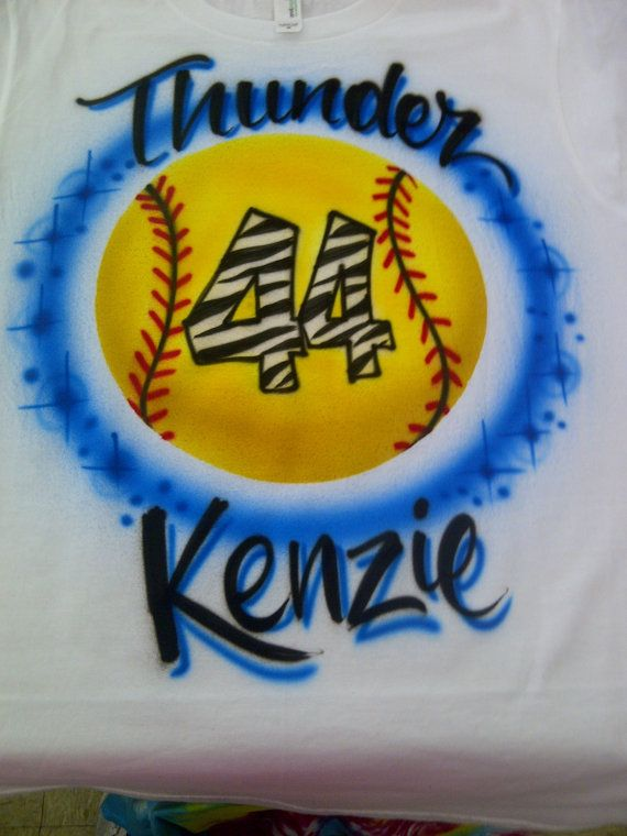 21 best airbrushed t shirts and more images on pinterest t airbrushed shirt in the design pictured personalized with your team name number and name design will be airbrushed on the front of the shirt unless the solutioingenieria Choice Image