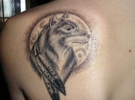35+ Ideas for tattoo wolf shoulder native american