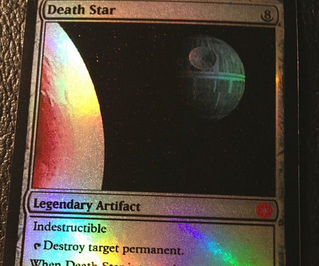 Magic The Gathering Death Star Card - https://interwebs.store/magic-the-gathering-death-star-card/ #StarWars