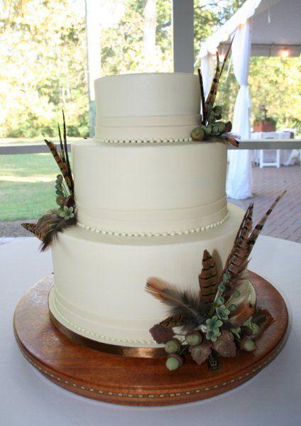 pheasant feather cake