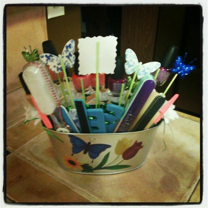 Nail Polish Gift Basket Gift Ideas Pinterest Polish