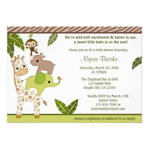 357 best monkey baby shower invitations images on pinterest baby wildlife jungle monkey baby shower invitation wjc filmwisefo