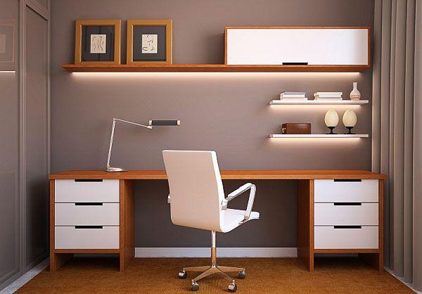 Сдержанный элегантный домашний офис