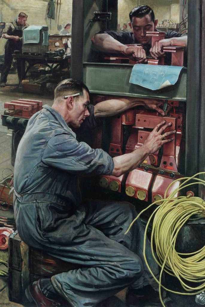Laura Knight –  Switch Works, 1945