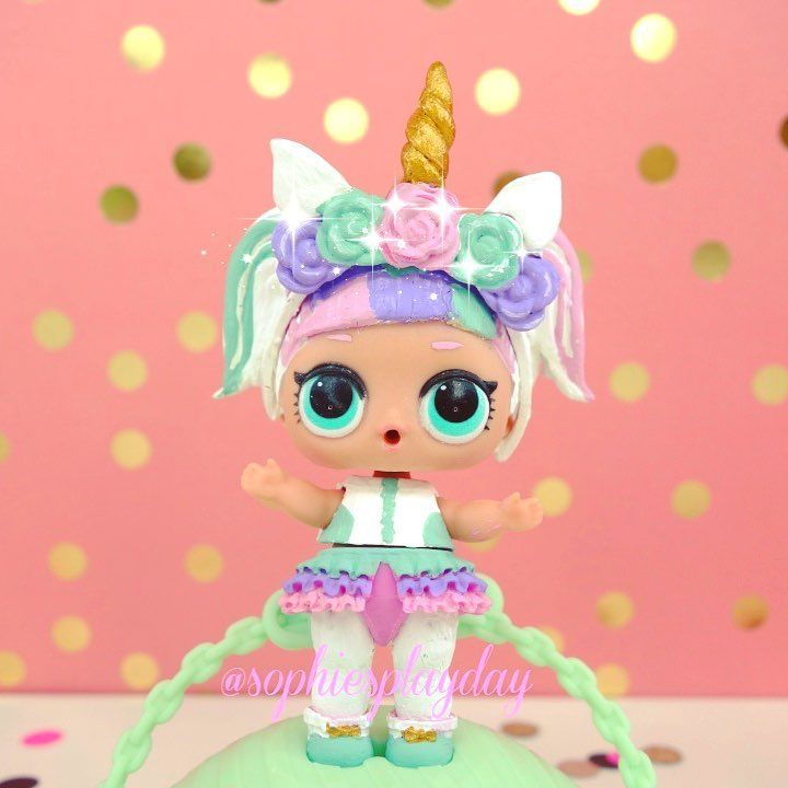 Unicorn Un Topu Ile Beraber Hali Lol Dolls Lol Doll Cake Crafts