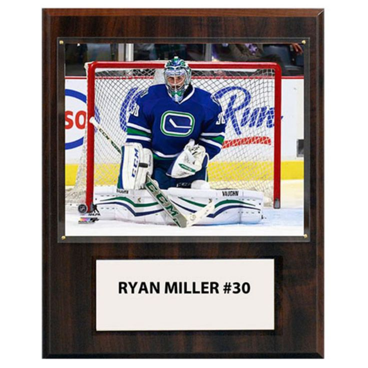C and I Collectables NHL 15W x 12H in. Ryan Miller Vancouver Canucks Player Plaque - 1215RMILLVAN