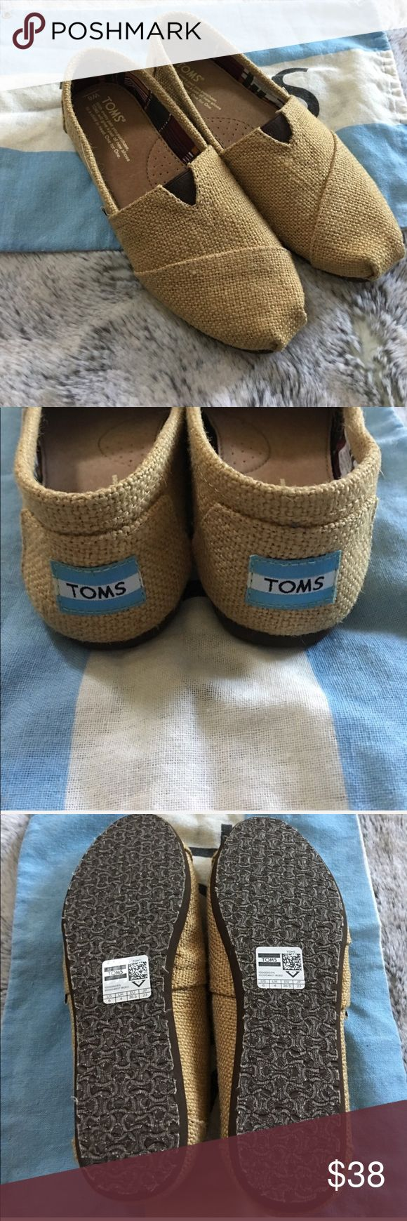 New! Burlap TOMS New! Natural Burlap TOMS. Size 6. Comes with TOMS bag. No box. Toms Shoes Flats & Loafers