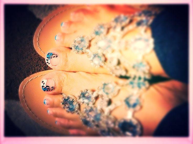 uñas de los pies zebras