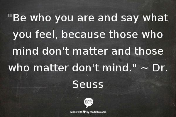 Dr. Seuss Those Who Matter