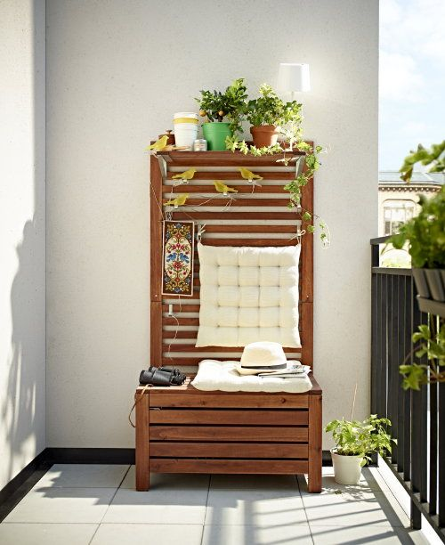 Ikea tuinmeubelen bank en opbergen voor balkon #balkon #balkonbank #ikea