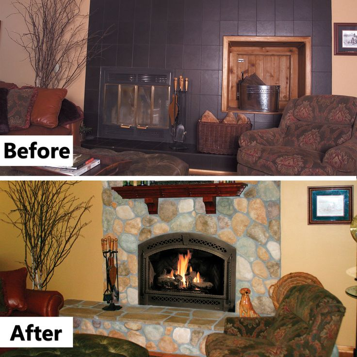 41 best Before & Afters images on Pinterest | Fireplaces, Gas ...