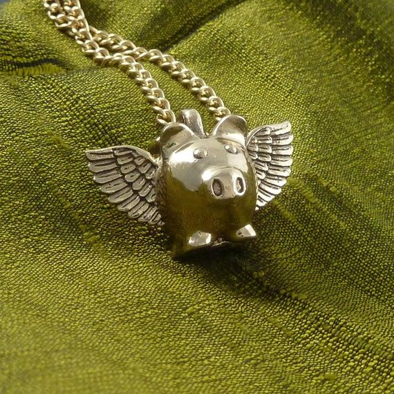 lost apostle flying pig necklace--anything's possible.