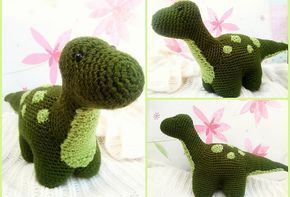 Dexter the Dinosaur - Free Amigurumi Crochet Pattern English Version here: http://themagicloop.com/index.php/2016/02/29/dexter-the-dinosaur-free-amigurumi-pattern/