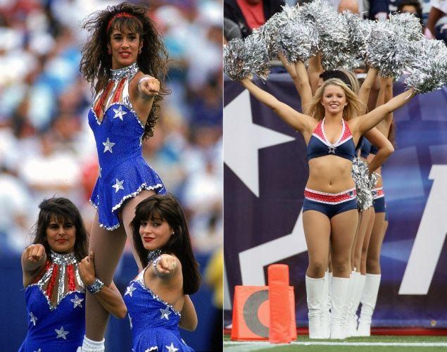 New England Patriots Cheerleaders - NFL cheerleaders then & now