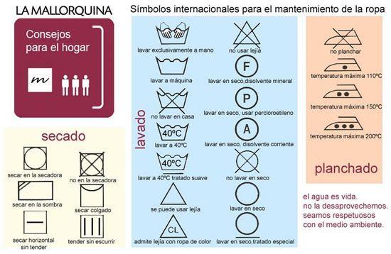 SIMBOLOS PARA EL CUIDADO DE LA ROPA hacer sello para cuidado de tejidos!!