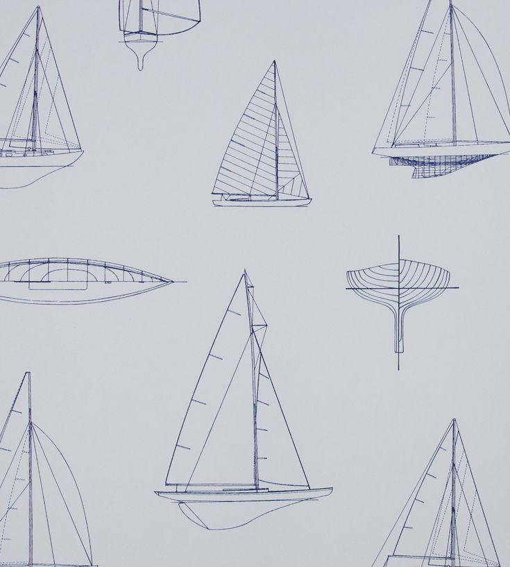 Sailing Boats Wallpaper by Brian Yates | Jane Clayton