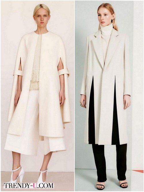 Красивые белые пальто для зимы 2016