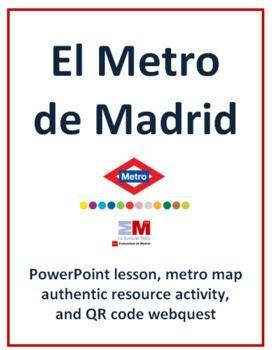 $ El Metro de Madrid - PowerPoint lesson, metro map activity