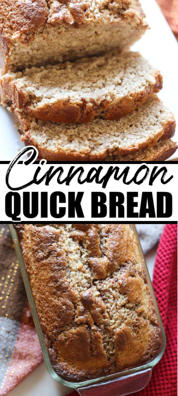 Cinnamon Quick Bread In 2020 Bread Recipes Sweet Bread Recipes Homemade Dessert Recipes Easy