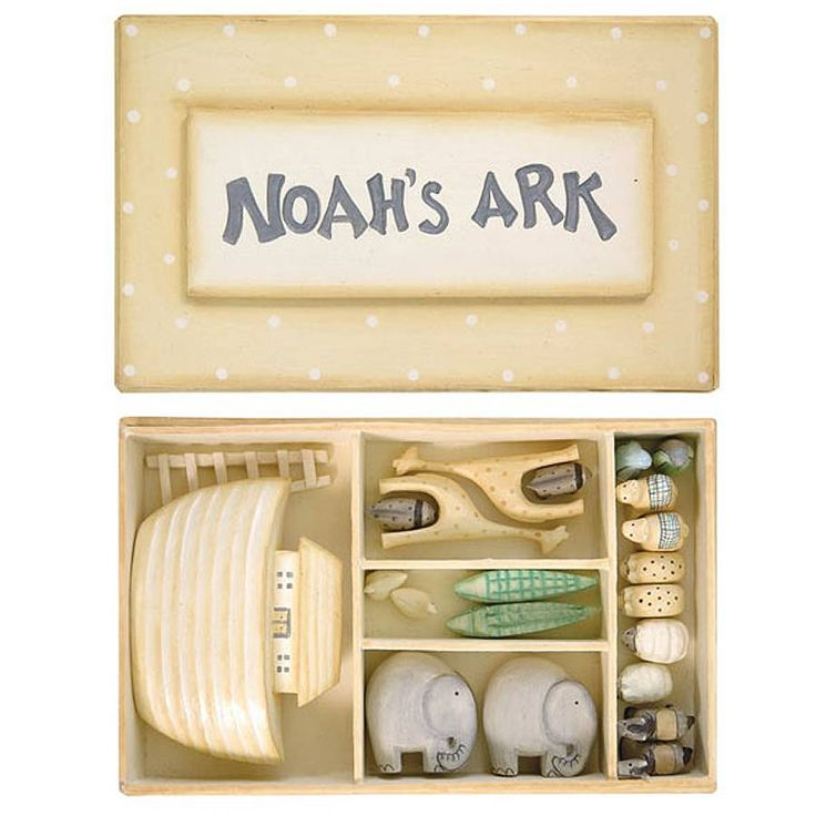 A charming handcrafted miniature ark with animals.This set would make a lovely Christening or naming day gift. Please note: due to the small size of this item it is not suitable for children under three years of age. Gift wrapping and tag can be added if this item is intended to be sent as a gift. Caution: This item contains small parts which could be a choking hazard to a young child. It has been designed as a keepsake gift and not a toy! A delightful new addition to our keepsake range. ...