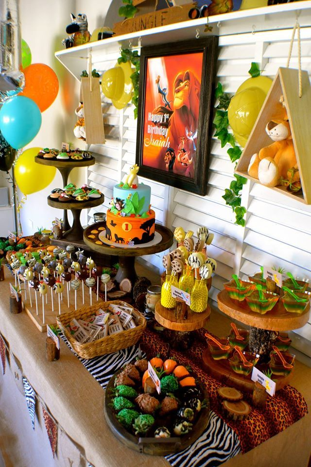 Little Wish Parties | Disney Lion King First Birthday | https://littlewishparties.com