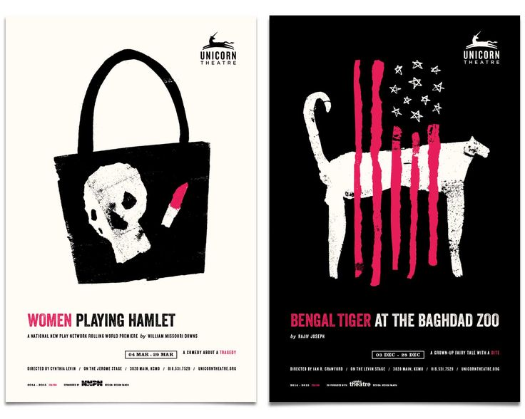 All other theaters, prepare to be upstaged. Design Ranch designed a set of illustrated posters to advertise Unicorn Theatre's alternative show lineup. From trucks to tigers, the selection of shows is depicted in visual metaphors to entice play-goers to enjoy the intimate, inspiring, invigorating experience of the Unicorn Theatre.