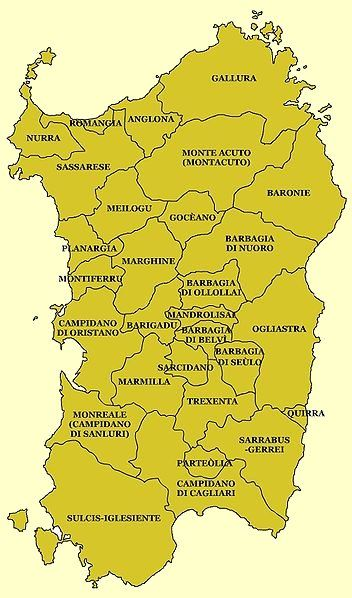 Historical geographical names in Sardinia