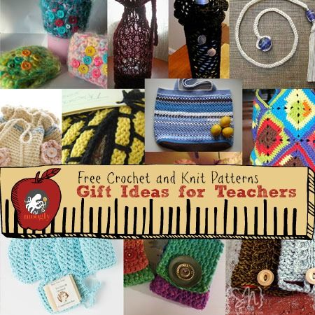 Free Crochet Patterns Gift Ideas : Great #Knit and #Crochet Gift Ideas for Teachers! From ...