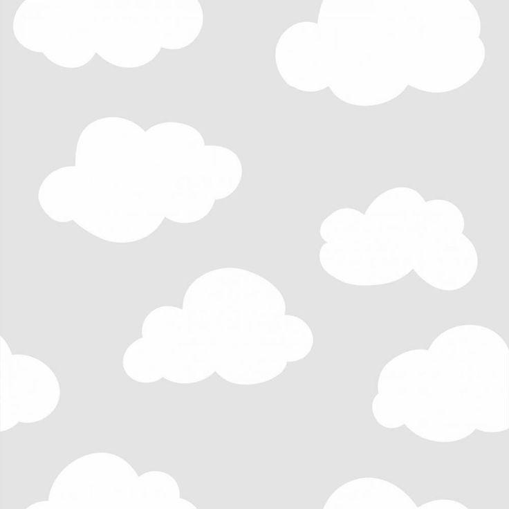 Papel de parede infantil céu e espaço nuvens - PA7897