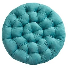 Plush Teal Papasan Cushion...these are my favorite in my house and make a great area for kids and animals!