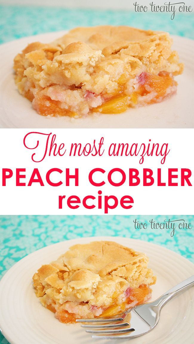 This is seriously the BEST peach cobbler recipe I've tried!